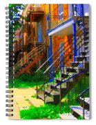 View Of Verdun Steps Stairs Staircases Winding Through Summer  Montrealstreet Scenes Carole Spandau Spiral Notebook