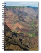 View Of Waimea Canyon Spiral Notebook