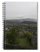 View Of Wallace Monument And Houses And Surrounding Areas Spiral Notebook