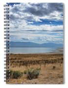 View Of Wasatch Range From Antelope Island Spiral Notebook