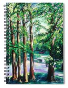 View Of Woodside Lake Spiral Notebook