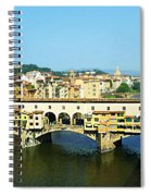 View On Ponte Vecchio From Uffizi Gallery Spiral Notebook