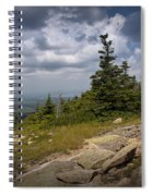 View On Top Of Cadilac Mountain In Acadia National Park Spiral Notebook