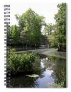 View Over Magnolia Plantation Lake Spiral Notebook