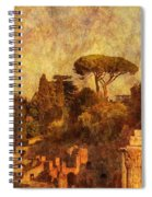 View Over The Forum In Rome Spiral Notebook