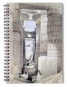 View Through The Hall Of Columns Spiral Notebook