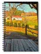 View Through The Meems Bottom Covered Bridge Spiral Notebook