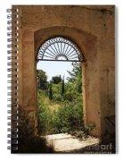 View Through The Monastery Window Spiral Notebook