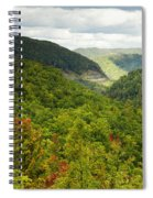 View To The Valley Spiral Notebook