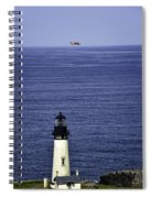 Viewing The Newport Lighthouse Spiral Notebook