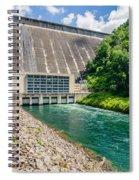 Views Of Man Made Dam At Lake Fontana Great Smoky Mountains Nc Spiral Notebook