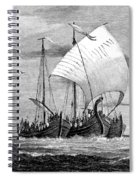 Vikings Cross The North Sea Spiral Notebook