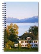 Villa At The Waterfront, Lake Zurich Spiral Notebook
