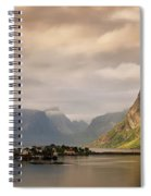 Village And Fjord Among Mountains Spiral Notebook