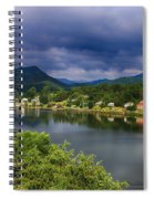Village By The Lake Spiral Notebook