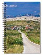 Village Gorica Island Of Pag Spiral Notebook