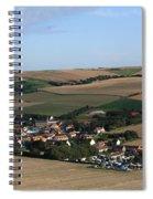 Village In A French Landscape  Spiral Notebook