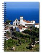 Village In Azores Islands Spiral Notebook