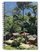 village in eastern Madagascar Spiral Notebook