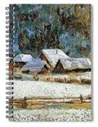 Village In Winter Spiral Notebook