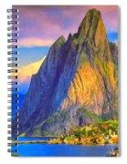 Village On The Naeroyfjord Norway Spiral Notebook