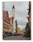 Village Scene Rothenburg Ob Der Tauber Spiral Notebook