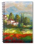 Village With Poppy Fields  Spiral Notebook