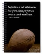 Vince Lombardi On Perfection Spiral Notebook