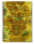 Vincent's Sunflower Song Spiral Notebook
