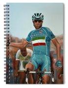 Vincenzo Nibali Painting Spiral Notebook