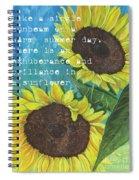 Vince's Sunflowers 1 Spiral Notebook