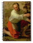 Vine Grower, 1628 Oil On Canvas Spiral Notebook