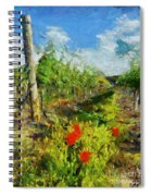 Vineyard And Poppies Spiral Notebook