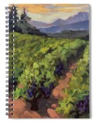 Vineyard At Dentelles Spiral Notebook