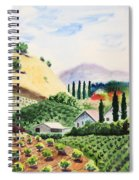 Vineyard Spiral Notebook