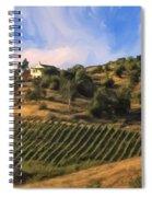 Vineyard Near Avila Beach Spiral Notebook