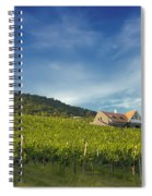 Vineyard On Sunny Hill Spiral Notebook