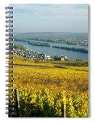 Vineyards Near A Town, Rudesheim Spiral Notebook