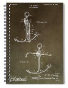 Vintage 1902 Anchor Patent Spiral Notebook