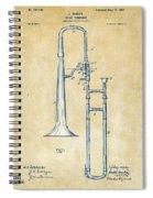Vintage 1902 Slide Trombone Patent Artwork Spiral Notebook