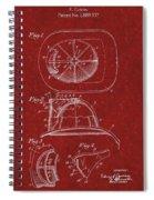 Vintage 1932 Firemans Helmet Patent Spiral Notebook