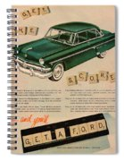Vintage 1954 Ford Classic Car Advert Spiral Notebook