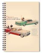 Vintage 1956 Oldsmobile Car Advert Spiral Notebook
