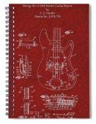 Vintage 1961 Fender Guitar Patent Spiral Notebook
