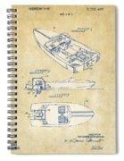 Vintage 1972 Chris Craft Boat Patent Artwork Spiral Notebook