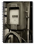 Vintage Air Station In Black And White Spiral Notebook