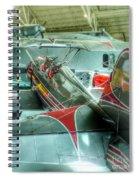 Vintage Airplane Comparison Spiral Notebook