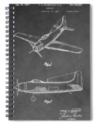 Vintage Airplane Patent Spiral Notebook