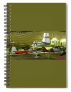 Vintage Airplanes Display Spiral Notebook