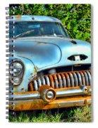 Vintage American Car In Yard Spiral Notebook